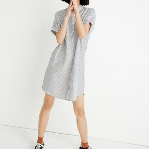 Madewell Courier Shirtdress in Stripe
